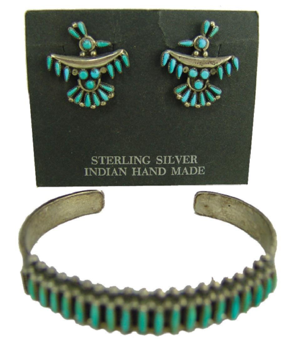 Zuni Bracelet & Earrings