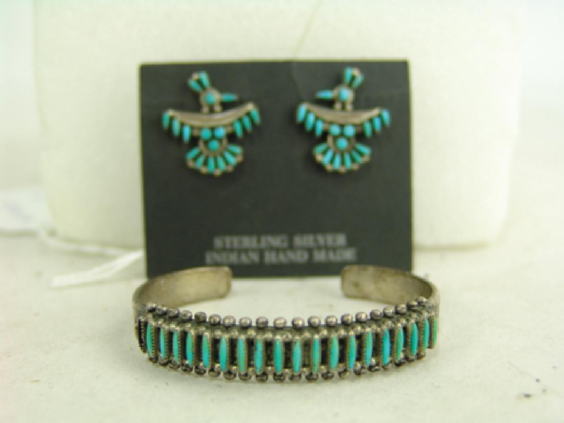 Zuni Bracelet & Earrings - 2