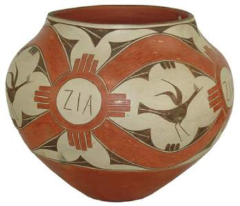 Mammoth Zia Jar - Juanita Pino (1890-1987)