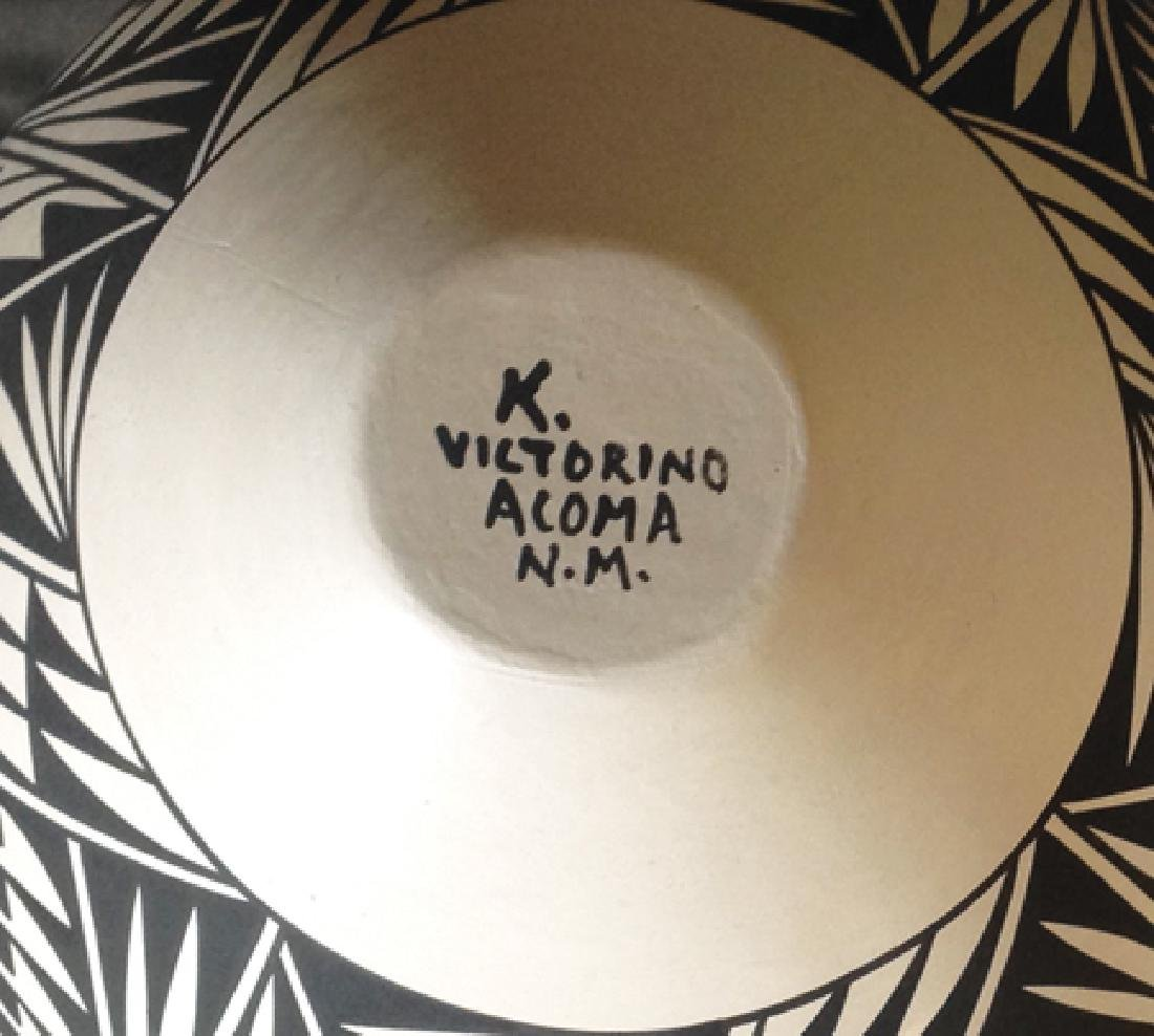 Acoma Pottery Jar - K. Victorino - 4