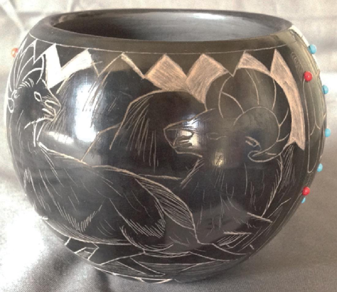 Santa Clara/Sioux Pottery - Norman Red Star - 3