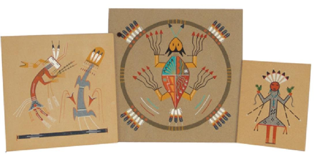 3 Navajo Sand Paintings