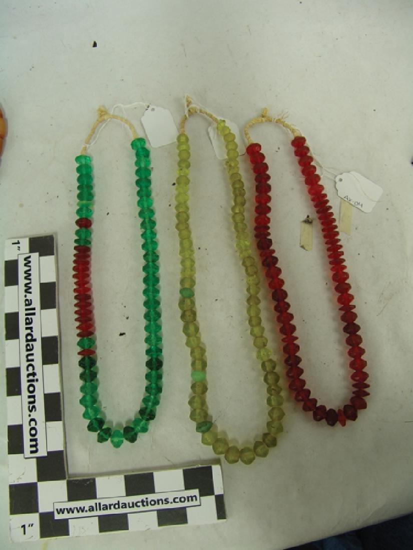 Antique Vaseline Trade Beads - 11