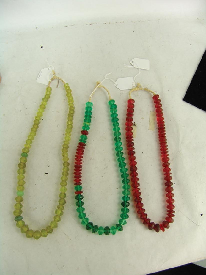 Antique Vaseline Trade Beads - 2