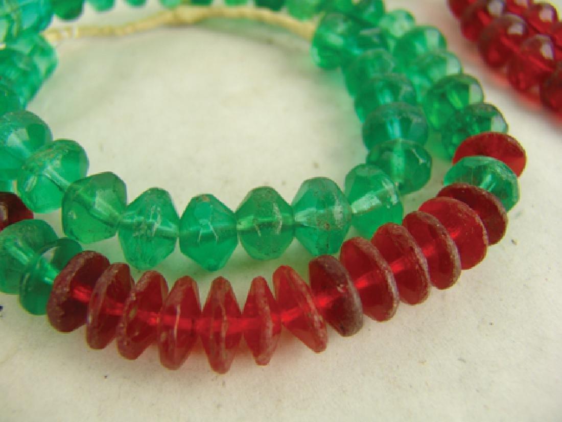 Antique Vaseline Trade Beads - 4