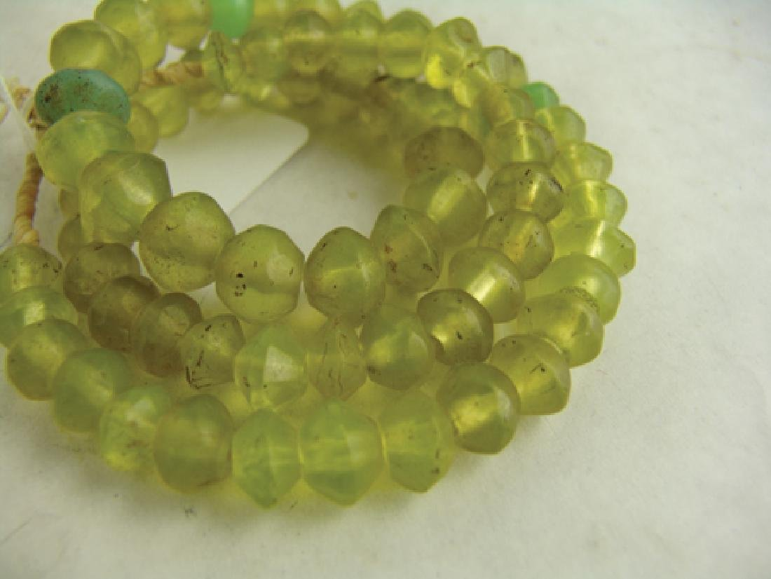 Antique Vaseline Trade Beads - 6