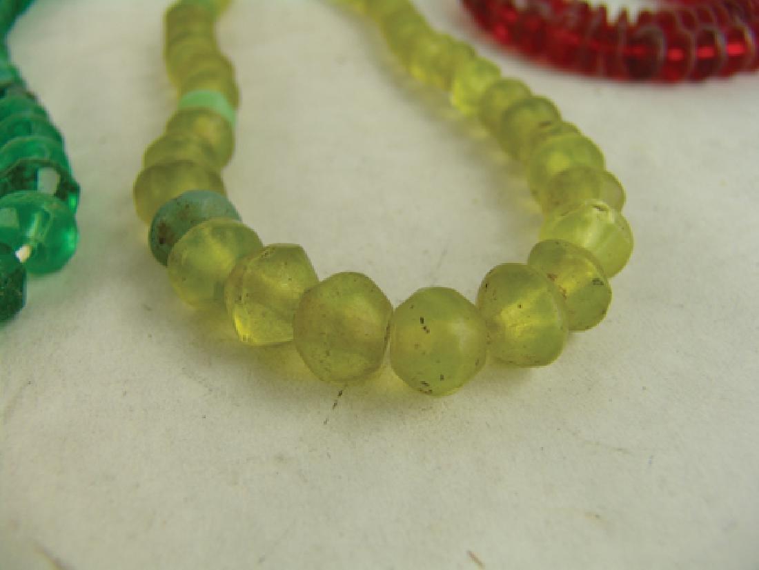 Antique Vaseline Trade Beads - 7