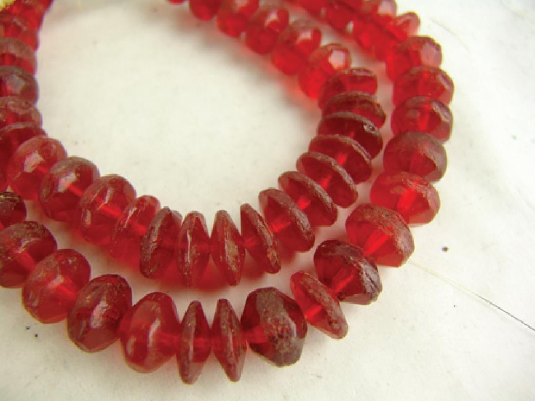 Antique Vaseline Trade Beads - 8