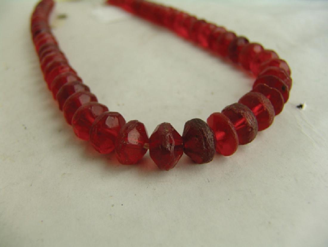 Antique Vaseline Trade Beads - 9