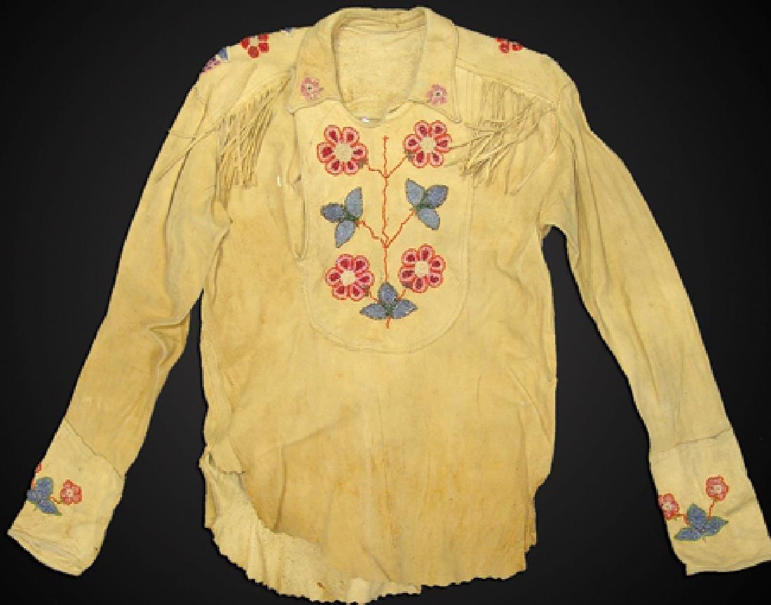 Woodlands Beaded Buckskin Shirt