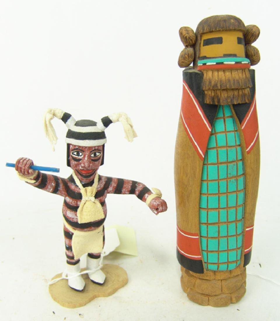 2 Hopi Kachina Carvings