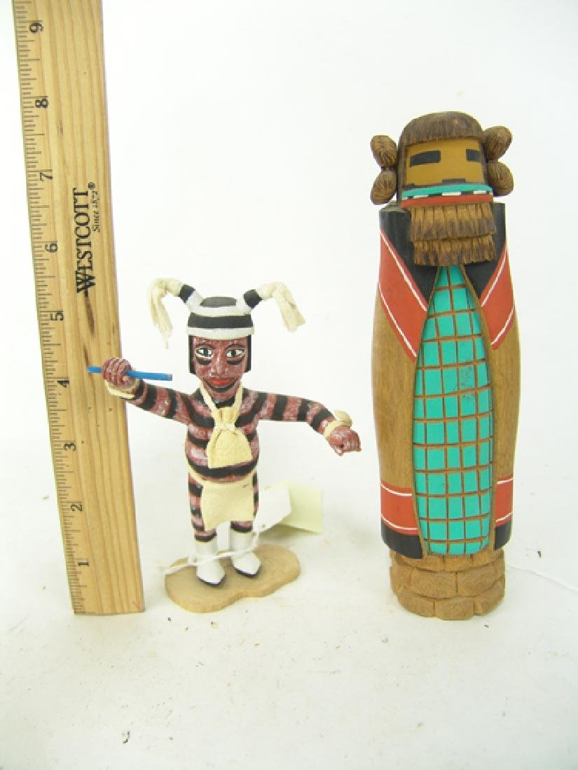 2 Hopi Kachina Carvings - 3