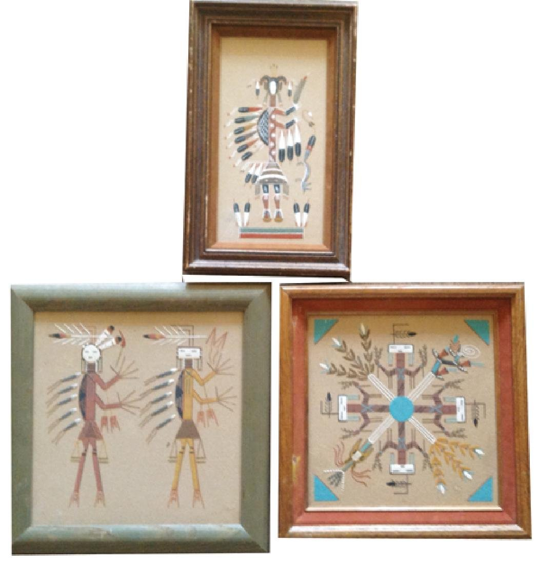3 Navajo Sand Paintings