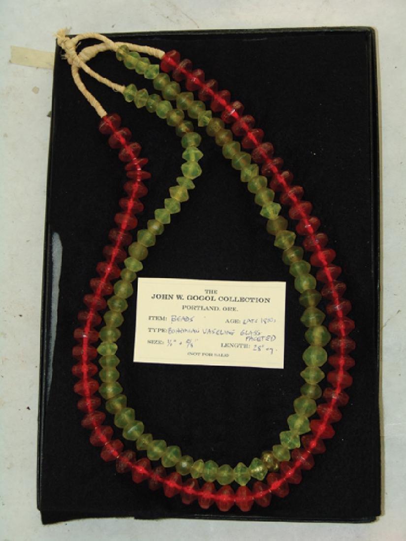 Antique Vaseline Trade Beads - 3