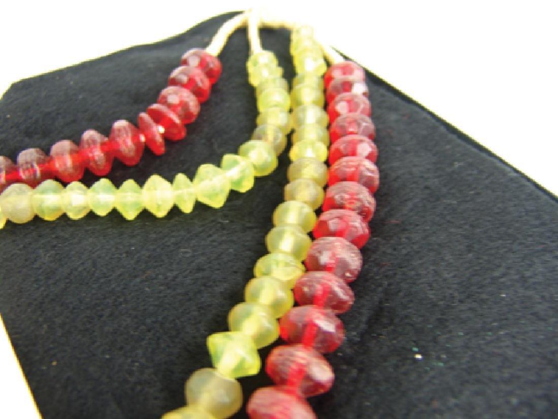 Antique Vaseline Trade Beads - 5