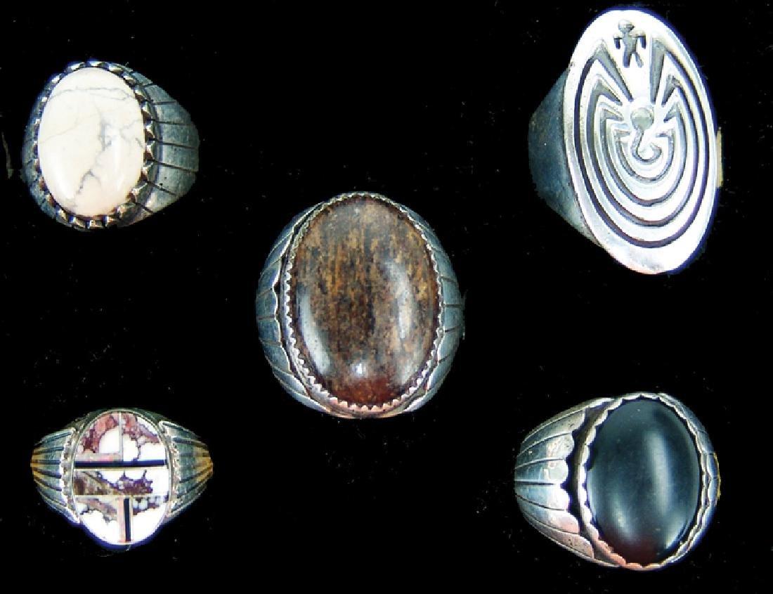 5 Silver Men's Rings