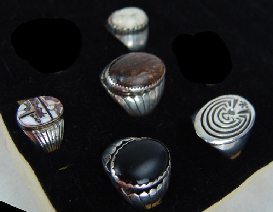 5 Silver Men's Rings - 2