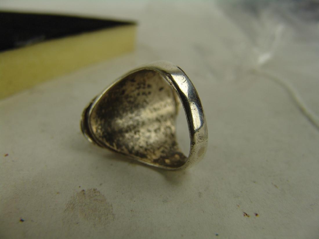 5 Silver Men's Rings - 4