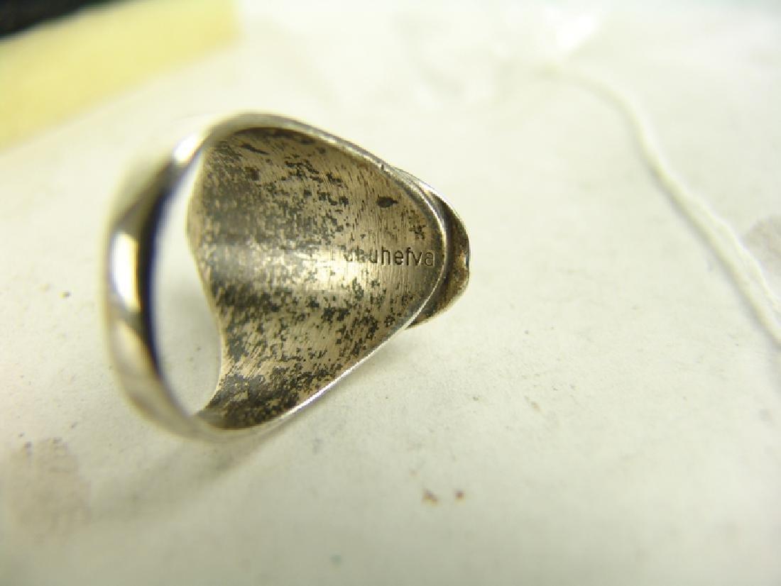 5 Silver Men's Rings - 5