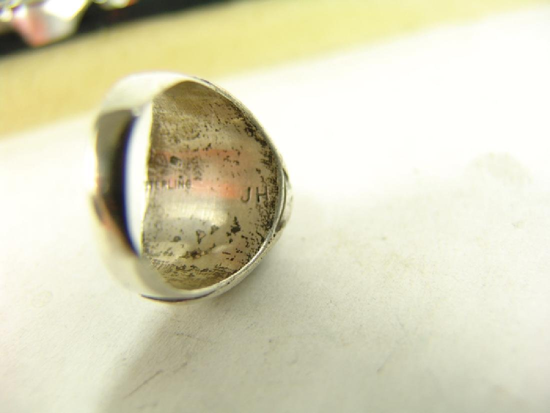 5 Silver Men's Rings - 6