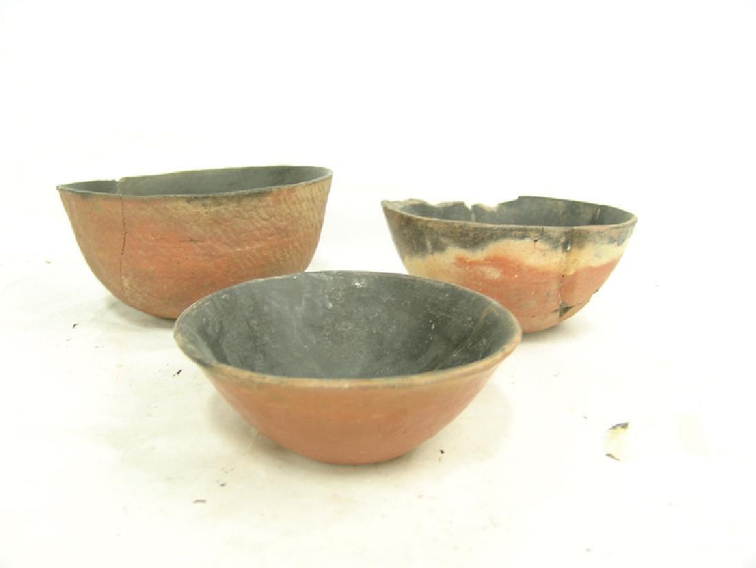 3 Anasazi Pottery Bowls - 2