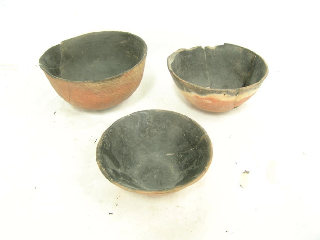 3 Anasazi Pottery Bowls - 3