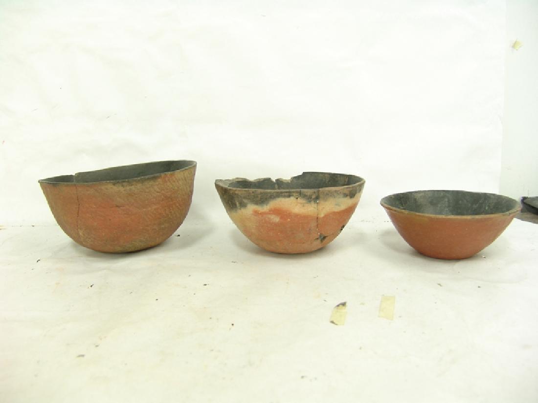 3 Anasazi Pottery Bowls - 4