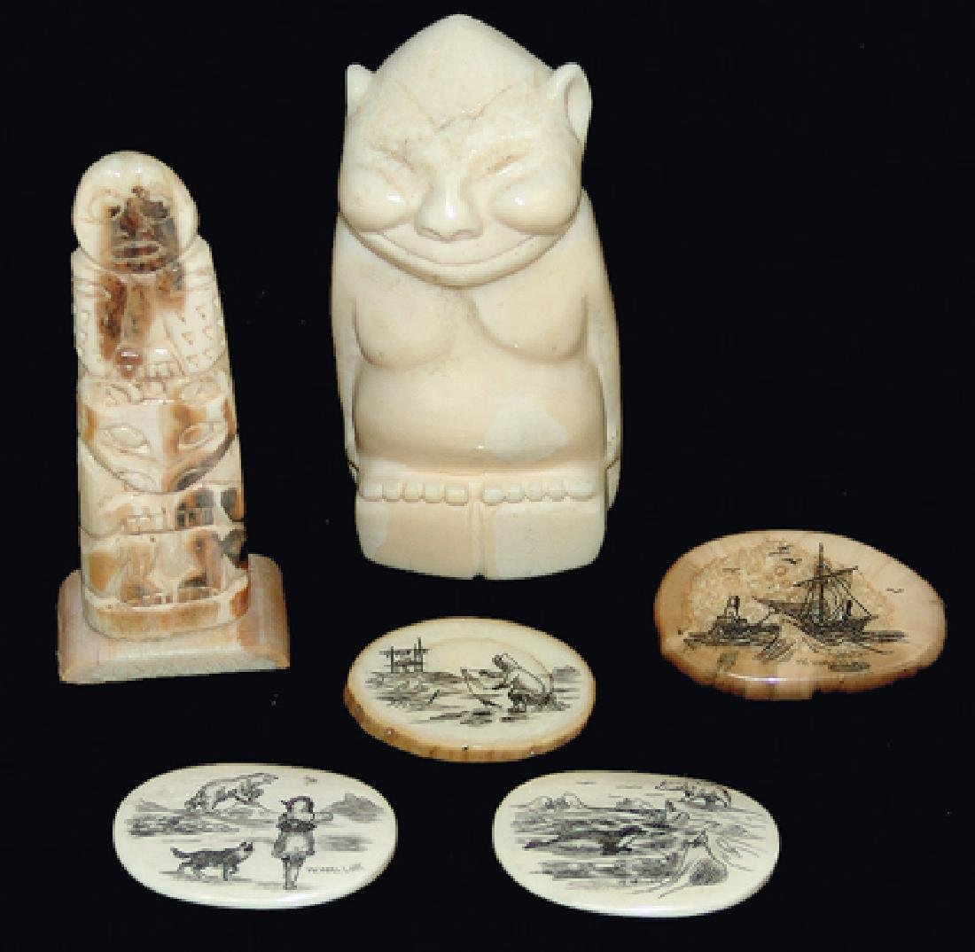Eskimo Ivory Carvings - W. Walluk