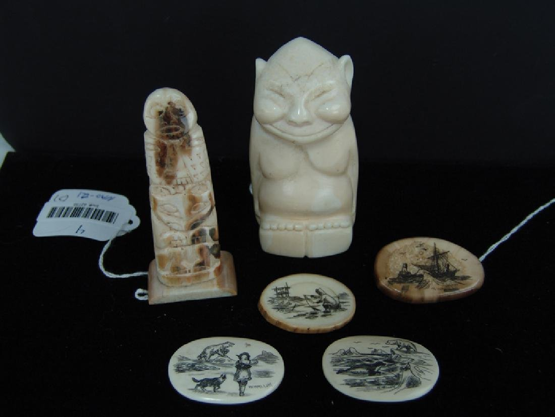 Eskimo Ivory Carvings - W. Walluk - 2
