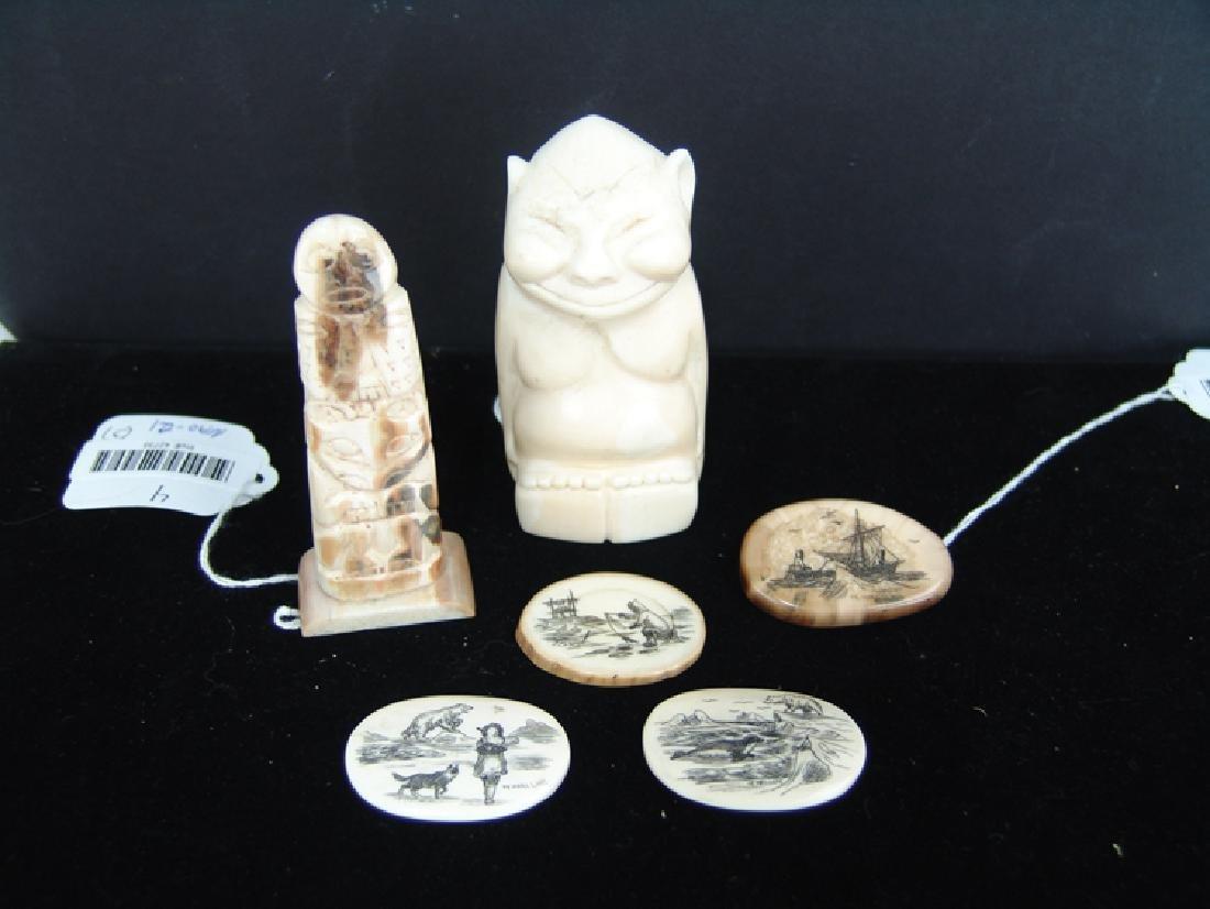 Eskimo Ivory Carvings - W. Walluk - 3