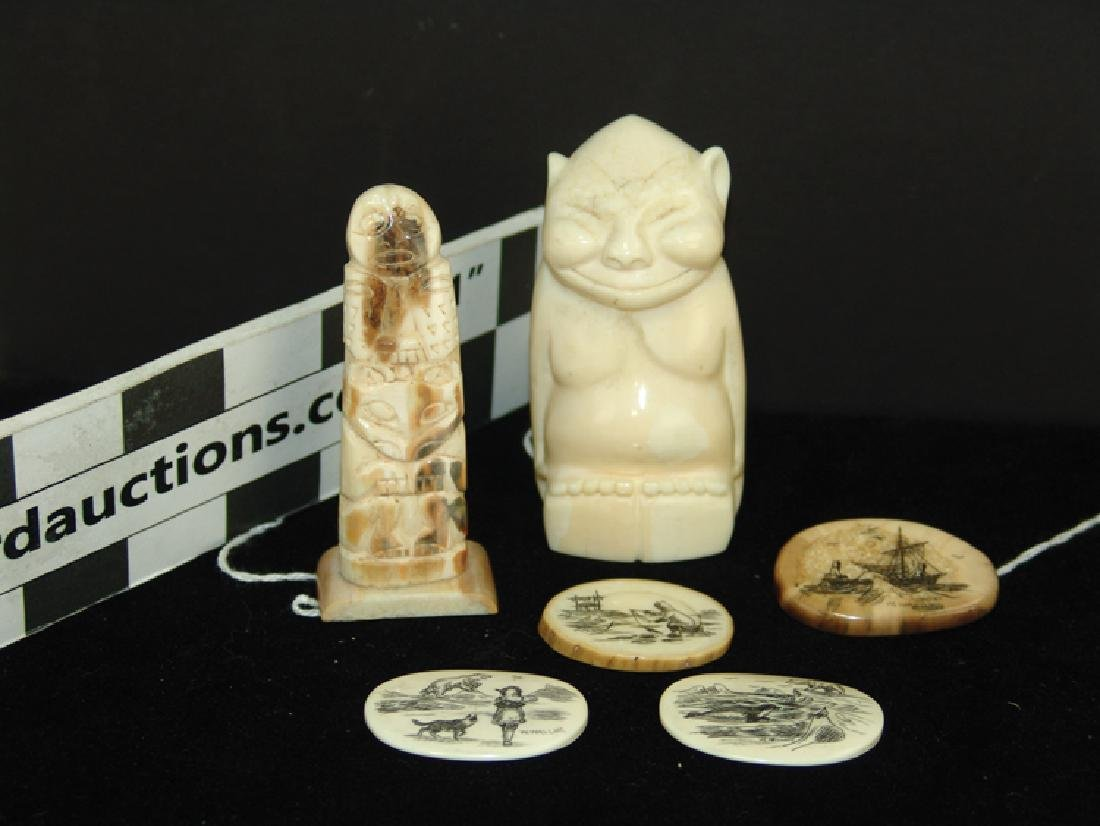 Eskimo Ivory Carvings - W. Walluk - 4