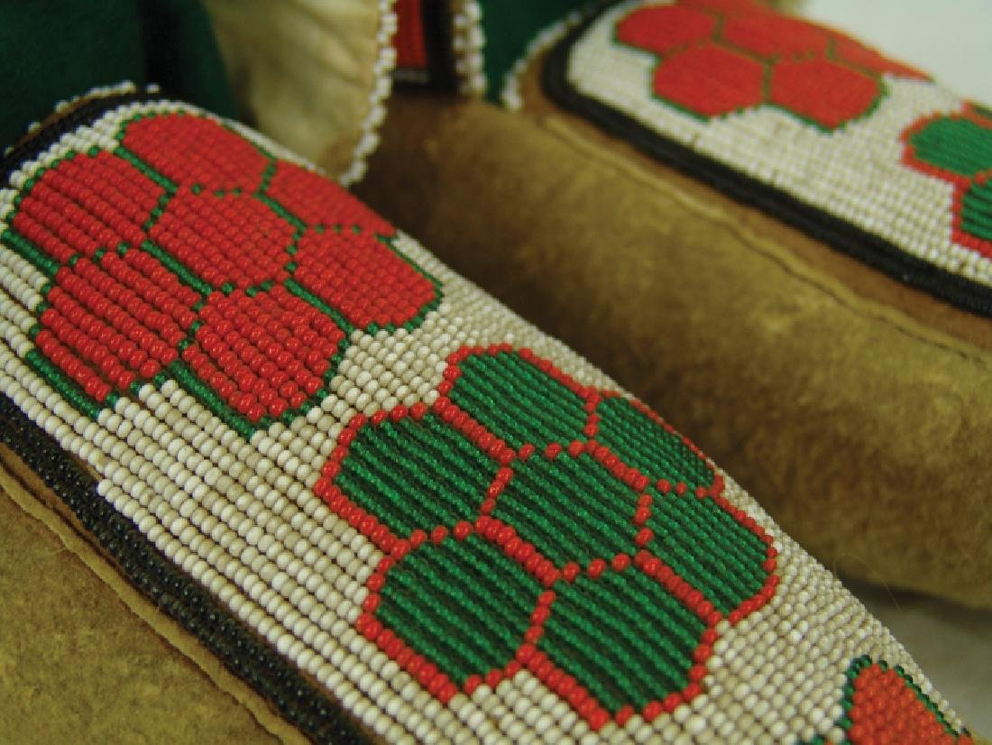 Cree Beaded Moccasins - 4