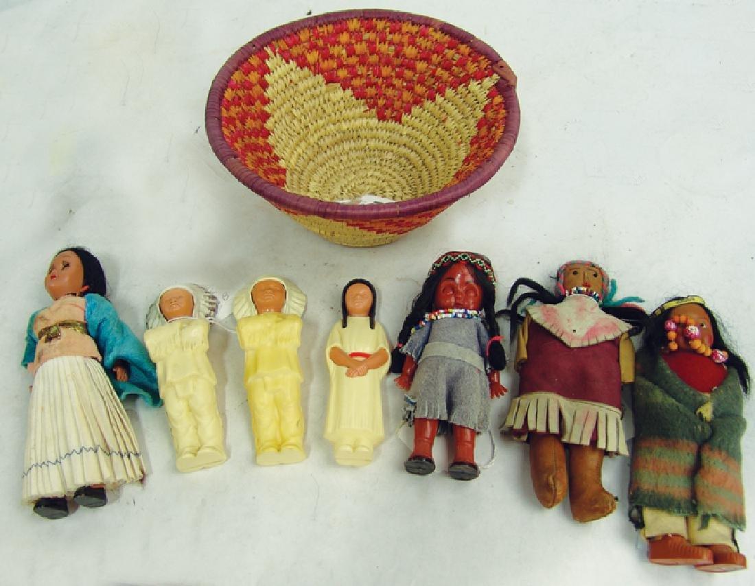 Box Lot of Vintage Doll