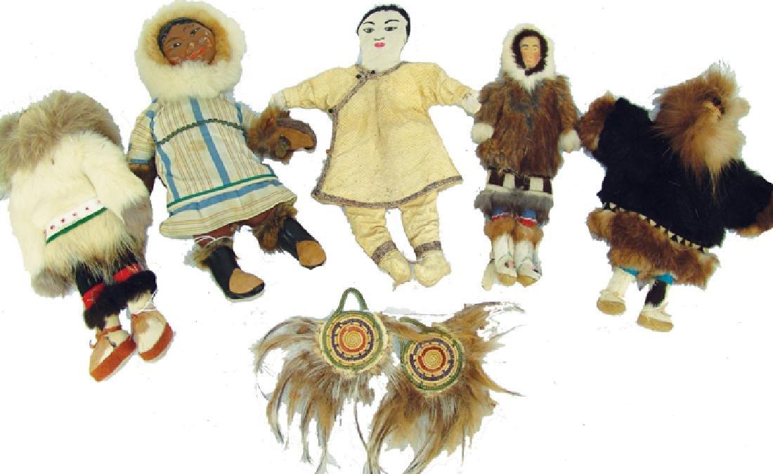 Group of Eskimo Dolls, Etc.