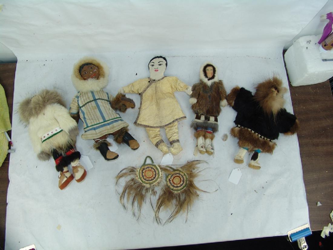 Group of Eskimo Dolls, Etc. - 2
