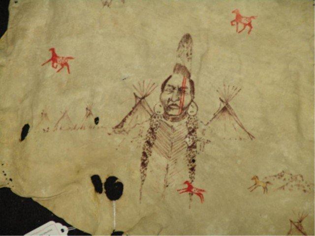 Osage Painted Hide - James Martin - 2