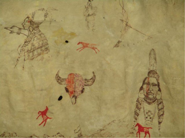 Osage Painted Hide - James Martin - 4