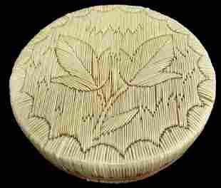 Anishinaabe Quilled Basket Susan Shagonaby