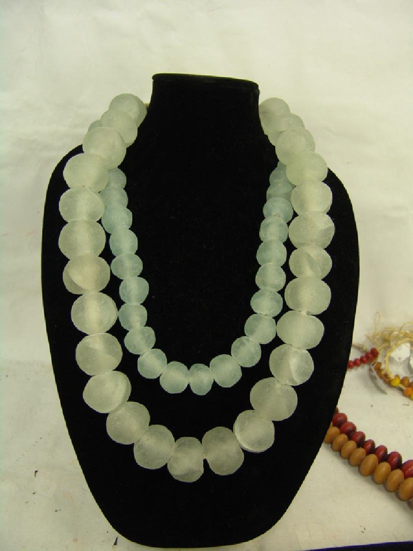 """Outstanding extra long (39"""") strand of crystal and deep - 4"""
