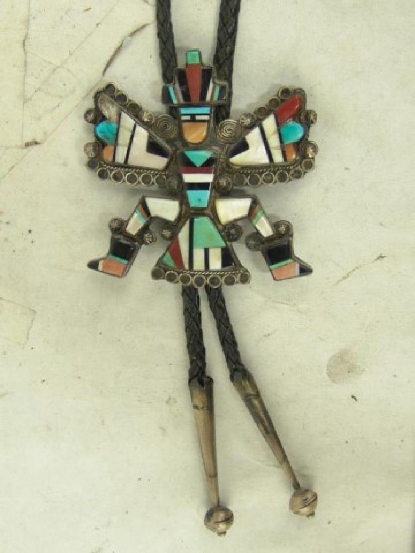 Zuni Inlay Bolo Tie - 2
