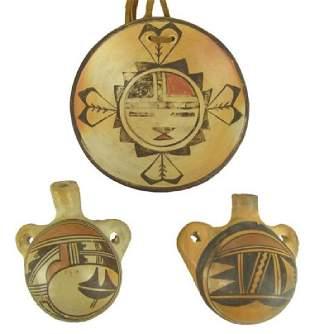 3 Acoma Pottery Items