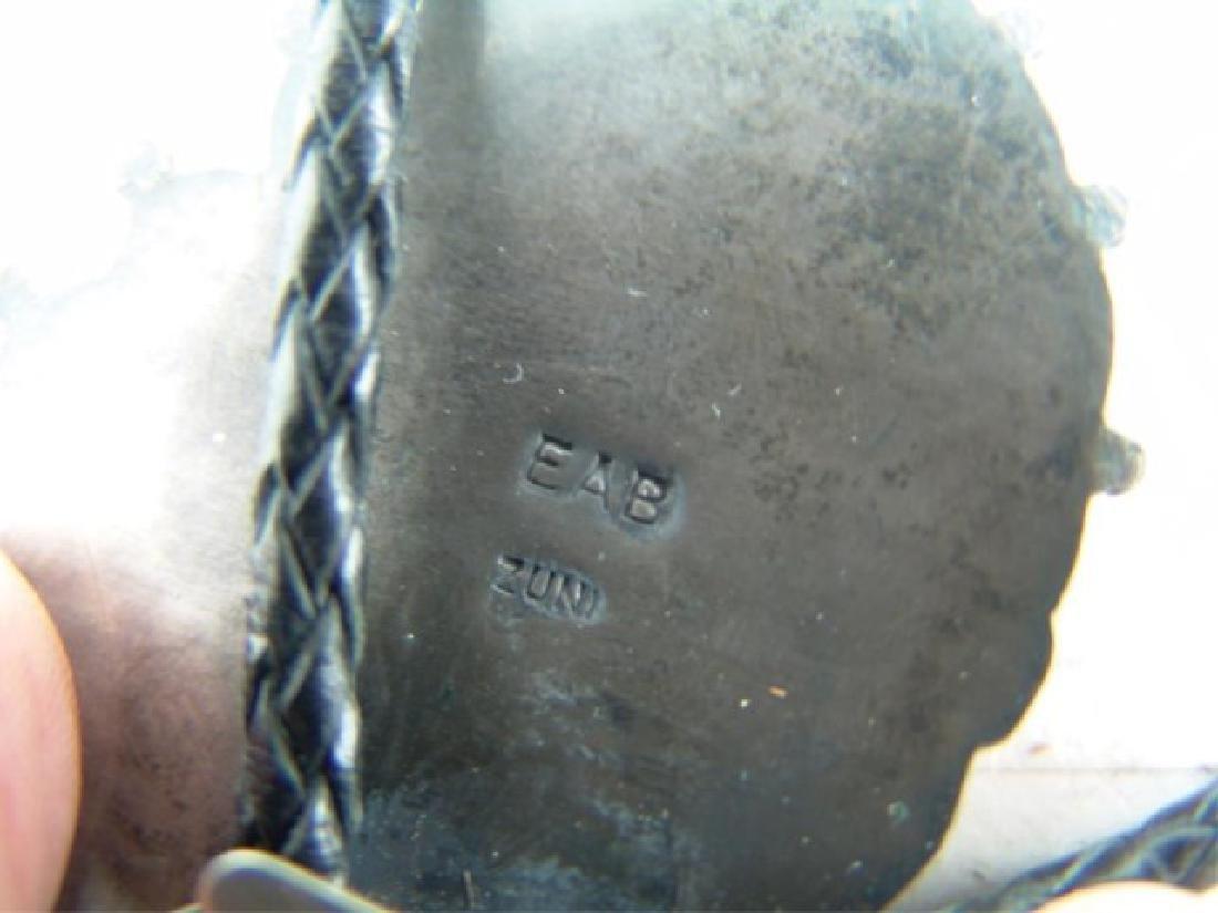Zuni Inlay Bolo Tie - Eddie Beyuka (1920-2002) - 9
