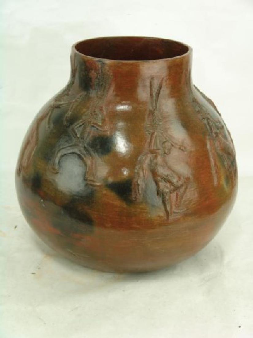 Large Navajo Pottery Jar - Faye Tso (1933-2004) - 2
