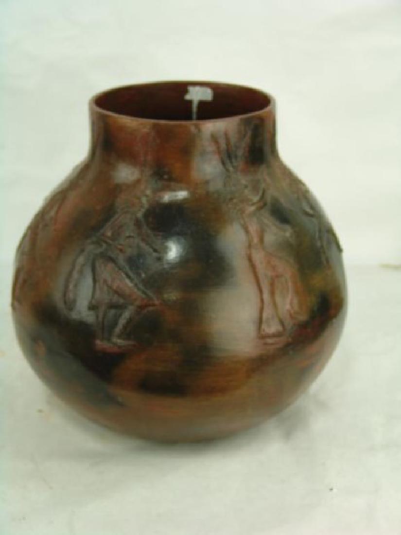 Large Navajo Pottery Jar - Faye Tso (1933-2004) - 3