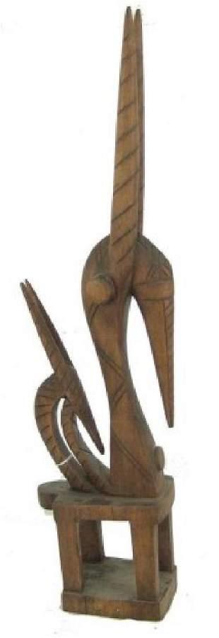 Antelope Wood Carving