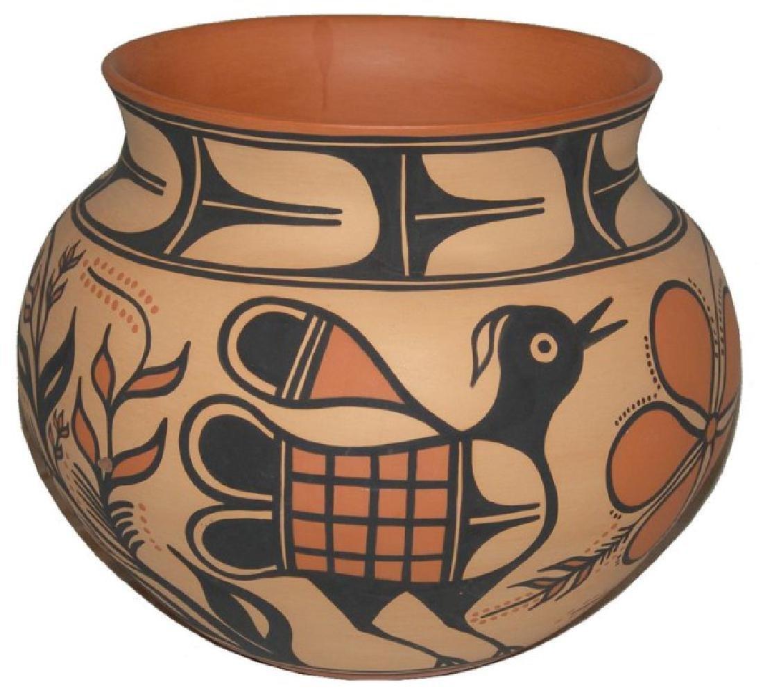 Large Santo Domingo Pottery Jar - Thomas Tenorio