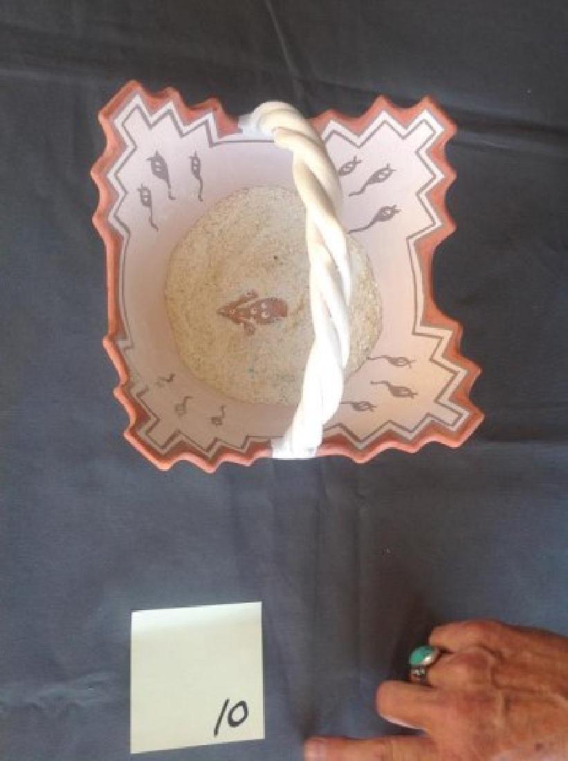 "Zuni Pottery ""Basket"" - Margie Chavez - 2"