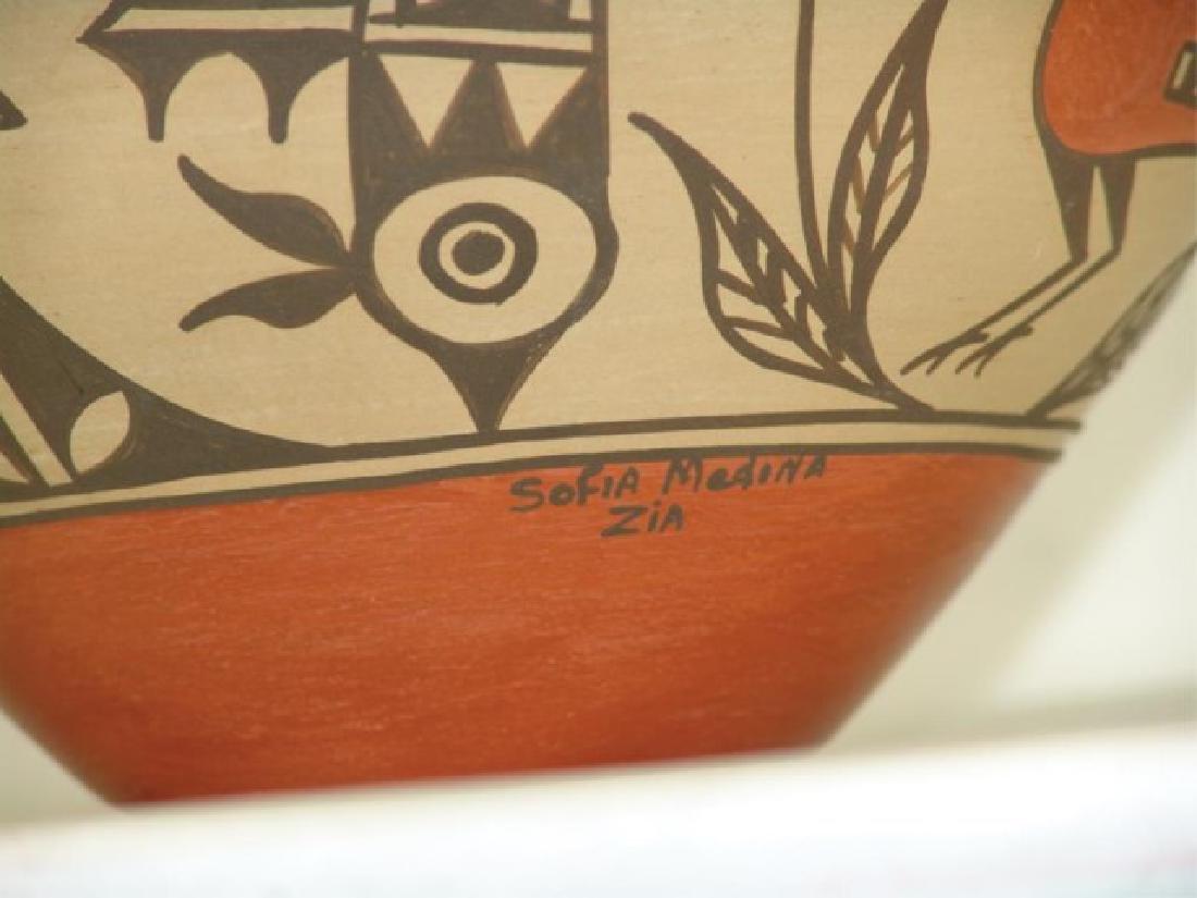 Zia Pottery Jar - Sofia Medina (1932-2010) - 9