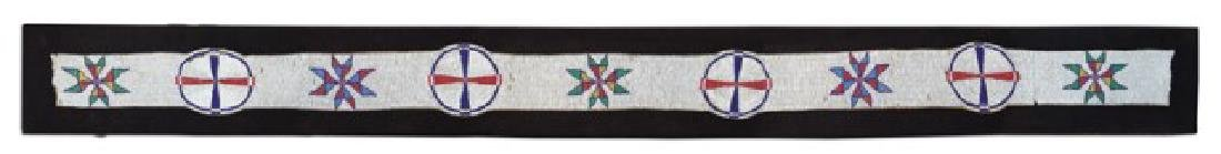 Sioux Beaded Blanket Strip