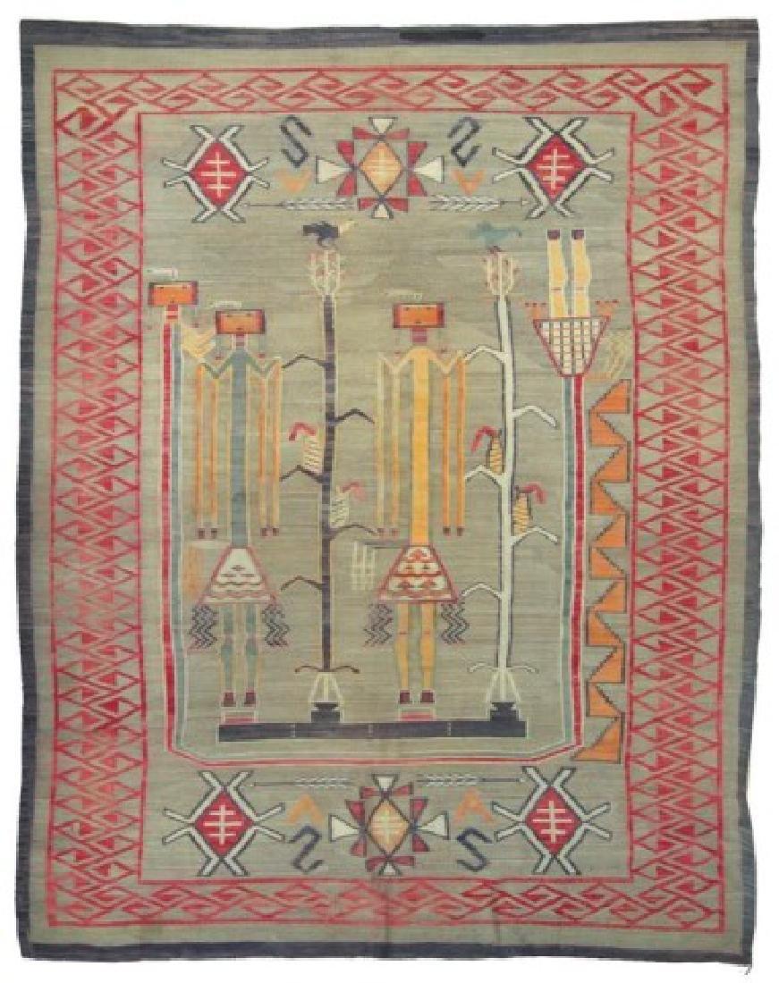 Huge Old Navajo Rug/Weaving